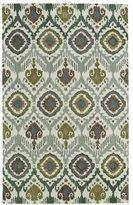 Leon Hand-tufted de Boho Green Rug (3'6 x 5'6)