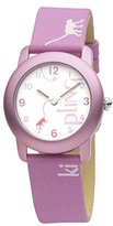 Kipling Fun Monkey - Pink girl's quartz Watch with white Dial analogue Display and pink leather Strap K9400342