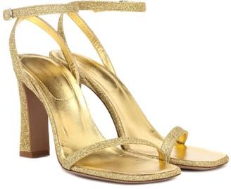 Dries Van Noten Glitter ankle-strap sandals