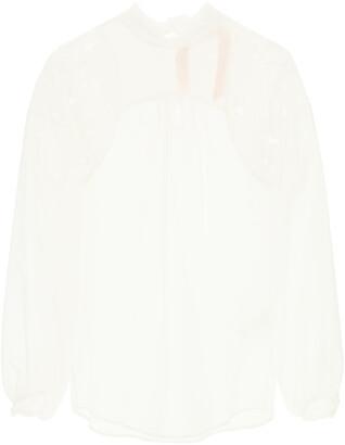 N°21 N.21 RUFF BLOUSE 38 White Cotton