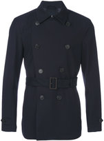 Corneliani watertight double-breasted short coat - men - Polyester/Polyurethane/Cupro/Viscose - 48