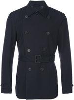 Corneliani watertight double-breasted short coat