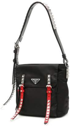 Prada Studded Strap Shoulder Bag