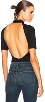 Frame Backless Bodysuit in Black.