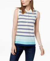 Tommy Hilfiger Printed Sleeveless Polo Top