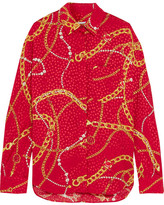 Balenciaga Printed Silk-jacquard Shirt - Red