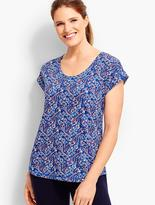 Talbots Country Paisley Roll-Cuff Tee