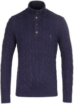 Polo Ralph Lauren Navy Heather Cable Knit Sweater