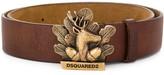DSQUARED2 deer buckle belt