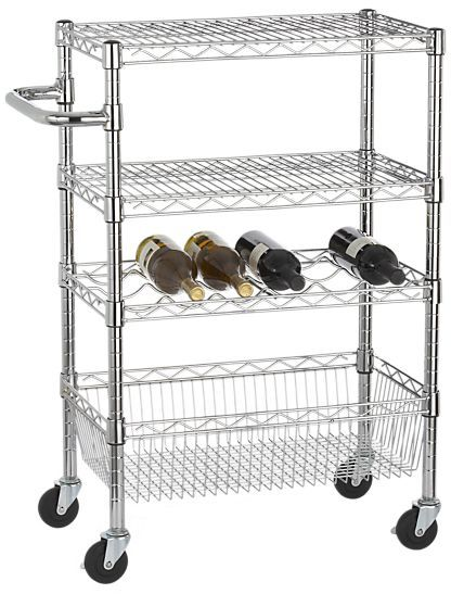 Crate & Barrel Work Utility Cart with Handle
