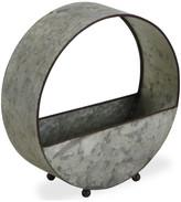 Cheungs Freestanding Galvanized Metal Round Vertical Planter