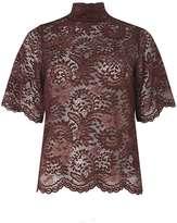 Vero Moda **Vero Moda Burgundy lace high neck top