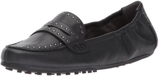 Aerosoles Women's Drive Up Penny Loafer Black Leather 10.5 M US