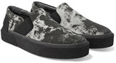 Lanvin Rubber-Trimmed Printed Canvas Slip-On Sneakers