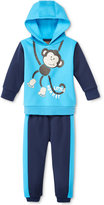 Nannette Baby Boys' 2-Pc. Colorblocked Monkey Hoodie & Pants Set