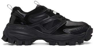 Juun.J Black Mix Low-Top Sneakers