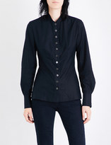 Stella McCartney Shinny slim-fit cotton-poplin shirt