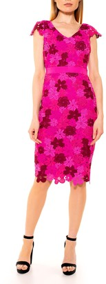 Alexia Admor Emersyn Floral Crochet Lace Sheath Dress