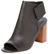 Vince Faye Peep-Toe Leather Bootie