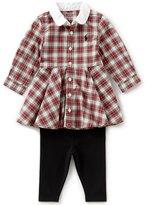 Ralph Lauren Baby Girls 3-24 Months Plaid Shirtdress & Leggings Set