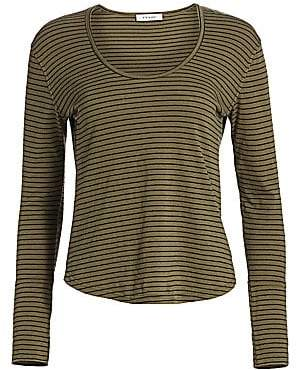Frame Women's Long Cuff Striped Long Sleeve T-Shirt