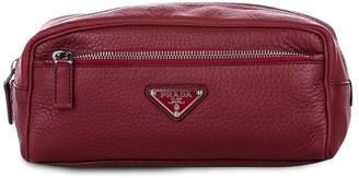 Prada Pre-Owned Logo-Plaque Clutch Bag