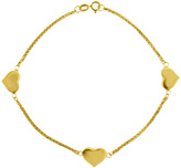 10K Gold Puff Heart Link Bracelet by Marc & Ivy
