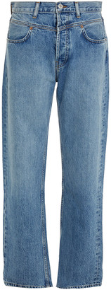 RE/DONE Double-yoke Faded High-rise Straight-leg Jeans