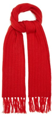 Thebe Magugu Ribbed Wool-blend Scarf - Red