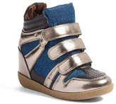 Steve Madden JReggo Metallic High Top Sneaker (Little Kid & Big Kid)