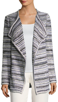 St. John Bellesa Striped Side Split Cardigan