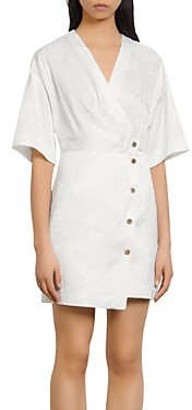 Sandro Harpie Wrap-Style Jacquard Dress