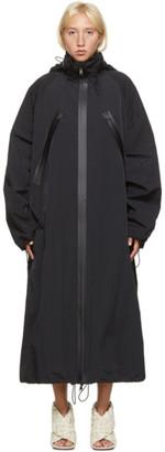 Bottega Veneta Black Nylon Long Coat