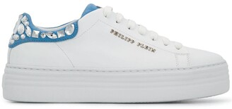 Philipp Plein Lo-Top crystal embellished sneakers