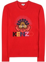 Kenzo Embellished Embroidered Wool Sweater