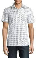 Perry Ellis Short Sleeve Confetti Shirt
