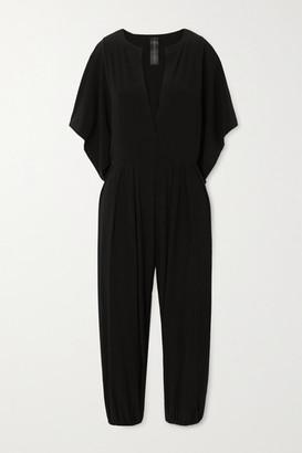 Norma Kamali Rectangle Cropped Stretch-jersey Jumpsuit - Black