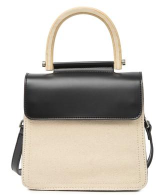 Pink Haley Addilyn Wooden Handle Crossbody Bag