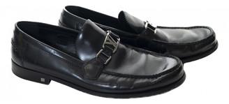 Louis Vuitton Hockenheim Black Leather Flats