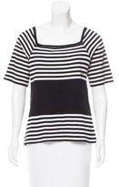 Sonia Rykiel Striped Three-Quarter Sleeve Top
