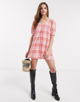 Emory Park swing dress in picnic check