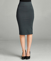 Jane Charcoal Pencil Skirt