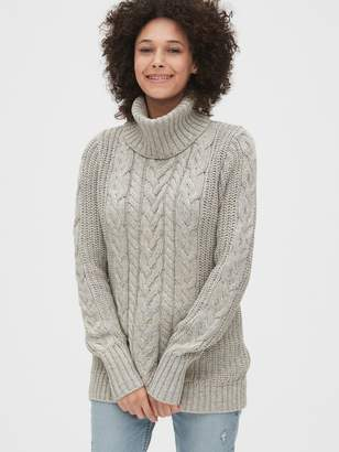 Gap Cable-Knit Turtleneck Tunic Sweater