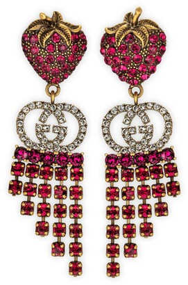 Gucci Strawberry earrings with crystals