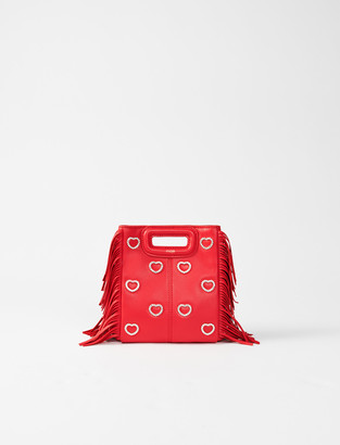 Maje M mini bag leather and rhinestone