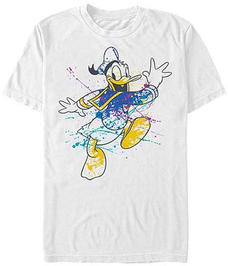 Fifth Sun Tee Shirts WHITE - Donald Duck White Splatter Tee - Adult