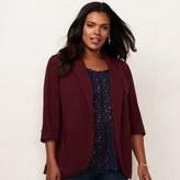 Lauren Conrad Plus Size Ponte Open-Front Blazer
