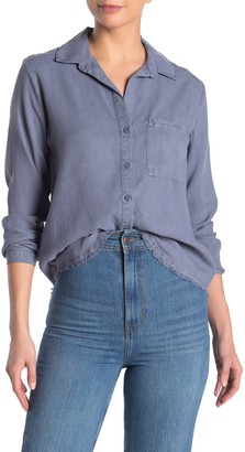 Cloth & Stone Frayed Back Seam Shirt