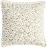 "Pine Cone Hill Lorient Crochet Pillow, 20""Sq."