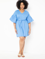ELOQUII Bubble Sleeve Dress